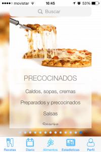 FoodMeter app, tu base de datos de alimentos