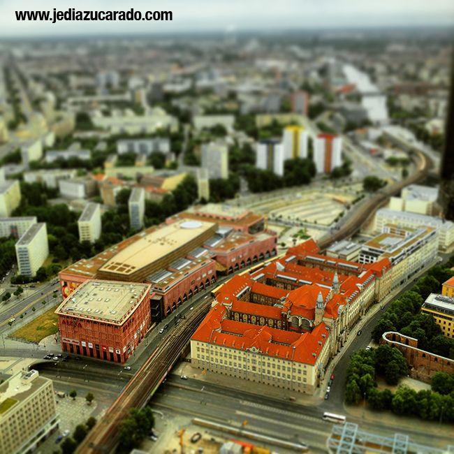 Vistas desde la torre de tv de Berlín