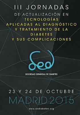Cartel de las III Jornadas de Actualización en Tecnologías de la diabetes de la Sociedad Española de Diabetes SED