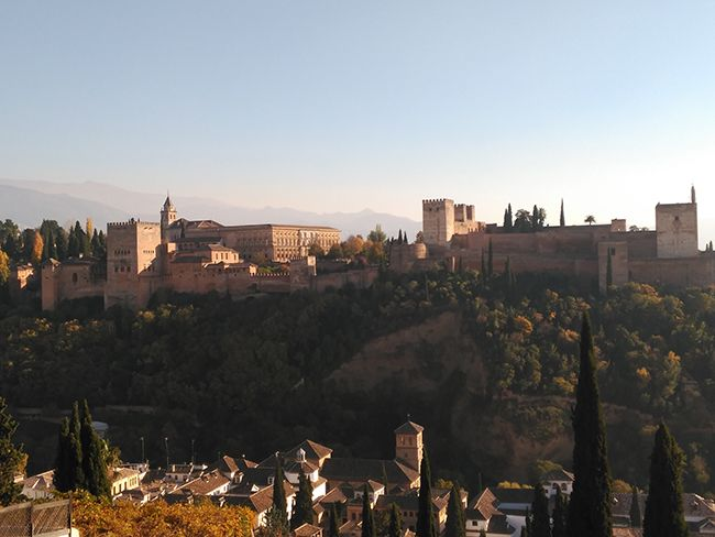 Imagen panorámica de la Alhambra de Granada