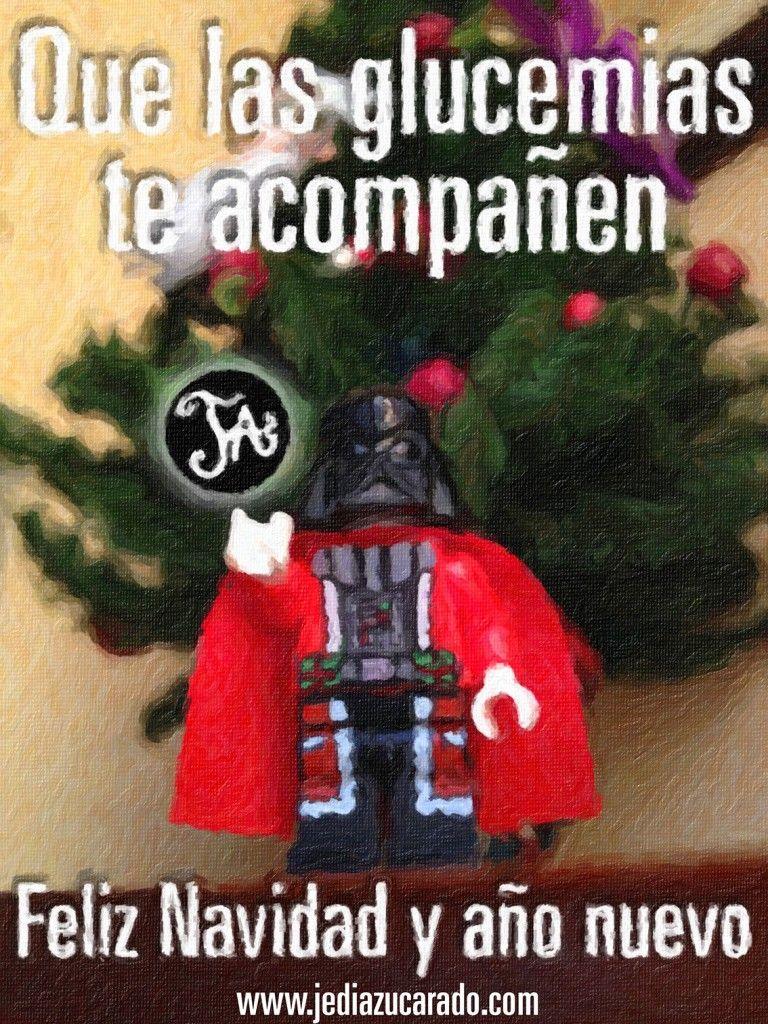 felicitación de navidad del jedi azucarado