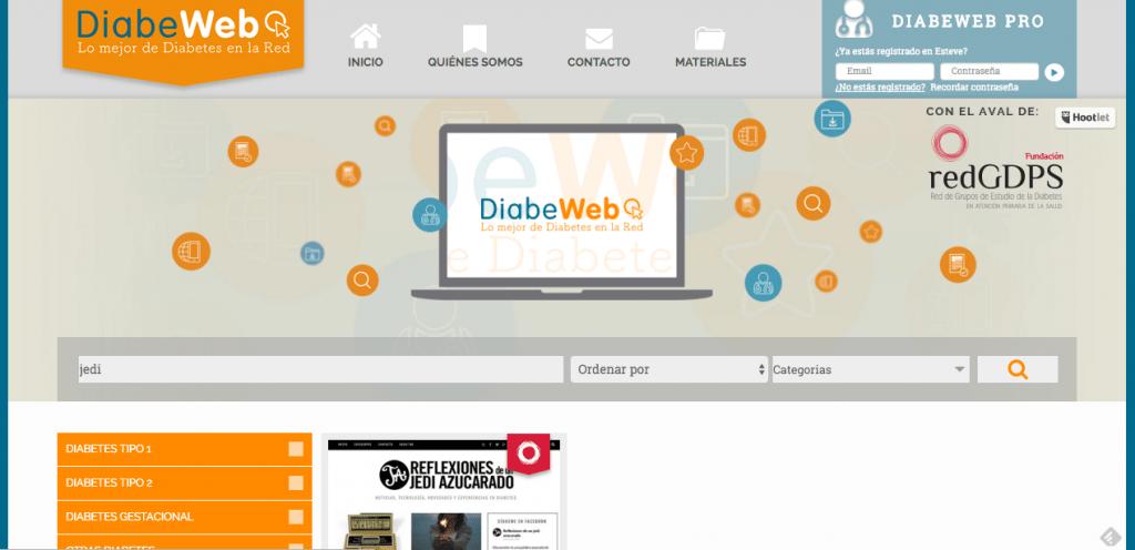 Diabeweb, un repositorio de sitios web sobre diabetes