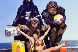 Los personajes de Star Wars en la playa