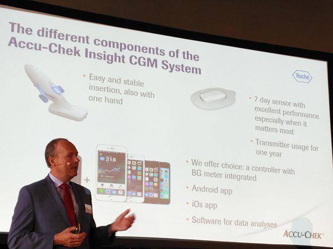Componentes del sistema Accu-Chek Insight CGM