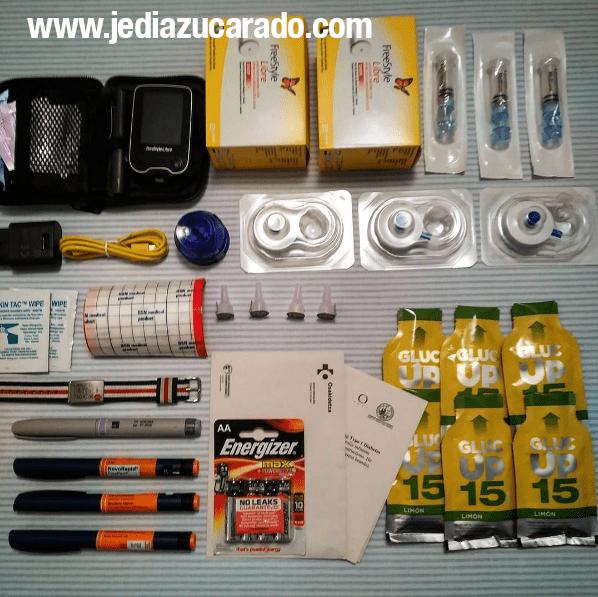 Kit de la diabetes con bomba de insulina