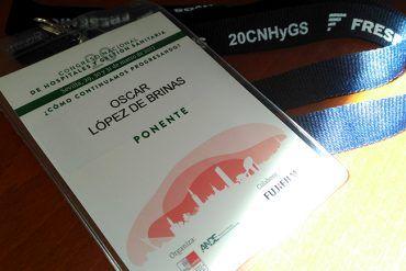 Tarjeta de ponente del 20ª Congreso de Hospitales y Gestión Sanitaria