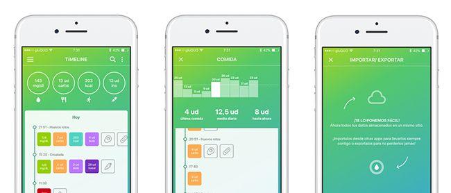 interface de la app gluQUO