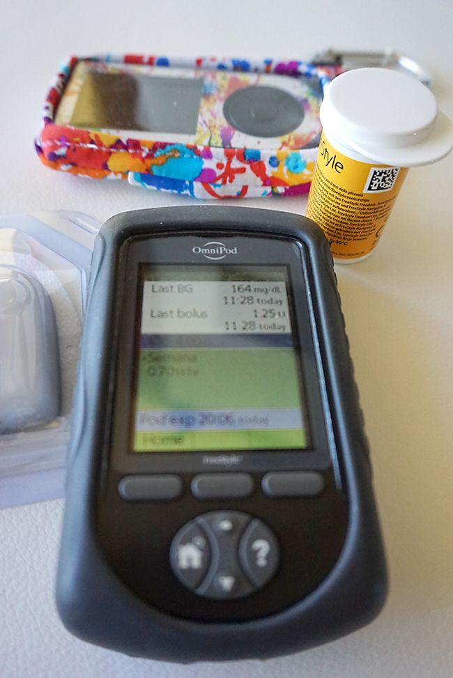 Mando de control PDM de la bomba de insulina Omnipod