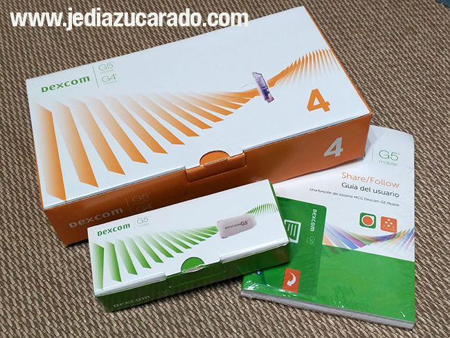 Pack del sistema Dexcom G5