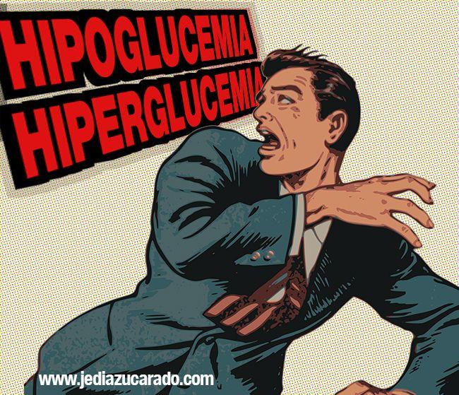 Imagen comic hipoglucemia e hiperglucemia
