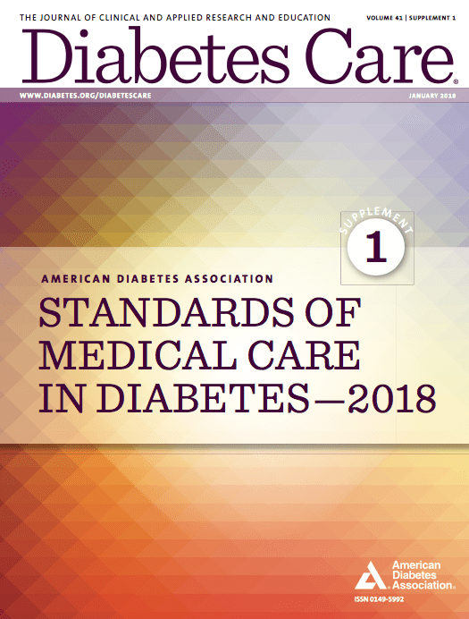 """standards of medical care in diabetes The american diabetes association (ada) """"standards of medical care in diabetes"""" includes ada's current clinical practice recommendations and is intended to provide the components of diabetes care, general treatment goals and guidelines, and tools to evaluate quality of care."""