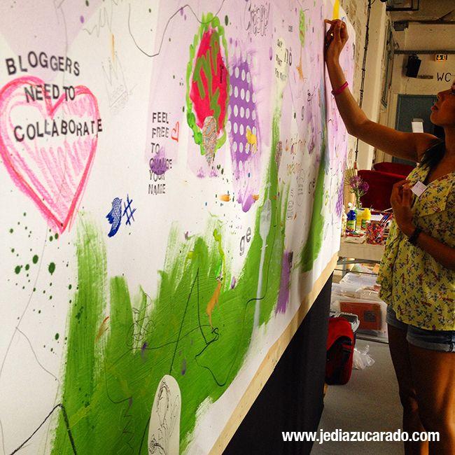 Imagen del Art Wall, donde los asistentes pudimos escribir y dibujar nuestras impresiones