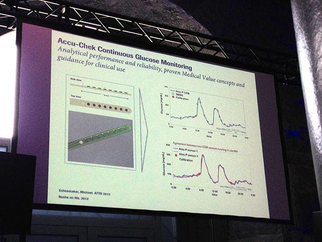 Imagen del funcionamiento del futuro medidor continuo de glucosa de Roche