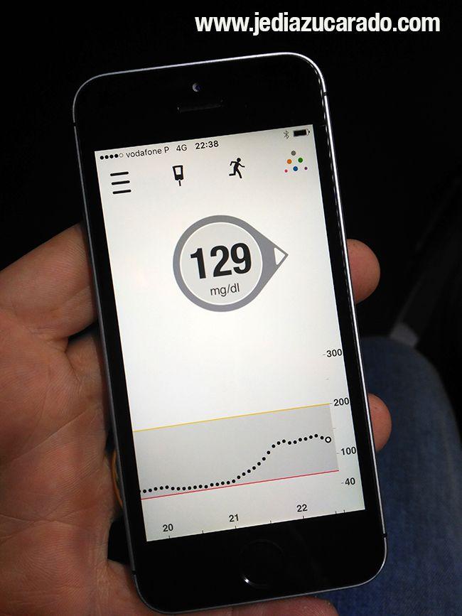 Vista de la app de control del G5