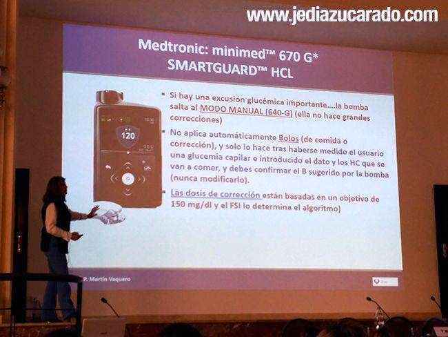 Martín Vaquero explicando la Minimed 670G