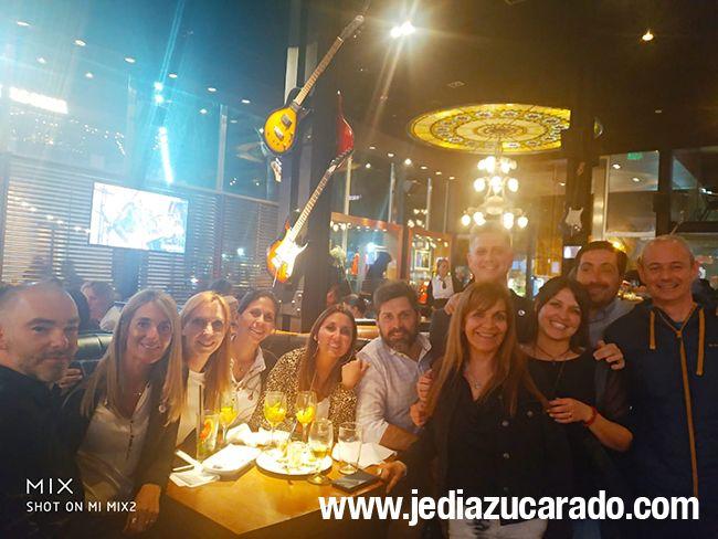 Cena con los organizadores de las jornadas Capítulo Litoral SAD