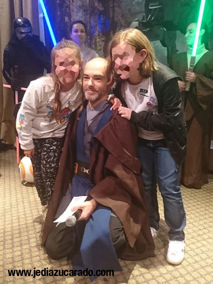 El Jedi Azucarado con los niños